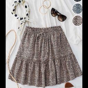 Cheetah Print  Ruffle Skirt